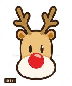 Cartoon illustration of Rudolph the red nosed reindeer, whit , Red nosed reindeer. Cartoon illustration of Rudolph the red nosed reindeer, whit , Christmas Rock, Christmas Card Crafts, Christmas Drawing, Christmas Scenes, Kids Christmas, Reindeer Drawing, Cartoon Reindeer, Reindeer Noses, Red Nosed Reindeer