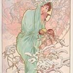 Alfons Mucha, il grande esponente dell'Art Nouveau insieme a Klimt Alfons Mucha, The Seasons_Winter, 1896.
