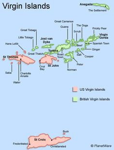 Neptunes Treasure Hotel On The Amazing Beaches Of Anegada Island - Us virgin islands map google
