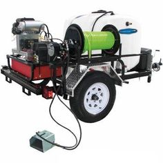 The Pressure Pro P-TRHDCJ/B1030KG Heavy Duty Commercial Grade Tow-Pro-Jet Sewer Jetter Drain Cleaner Trailer is a CH740 Kohler Powered 3000 PSI / 10.0 GPM Sewer Learn More at: http://pressurewashersconnect.com/