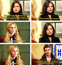 evil queen and ouat image Once Upon A Time Funny, Once Up A Time, Best Tv Shows, Best Shows Ever, Favorite Tv Shows, Between Two Worlds, Hook And Emma, Swan Queen, Film Serie