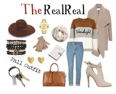 """""""Fall Style With The RealReal: Contest Entry"""" by lillypam ❤ liked on Polyvore featuring Loro Piana, Harris Wharf London, River Island, Jimmy Choo, Calvin Klein, H&M, Lack of Color, Qi Cashmere, CB2 and Movado"""