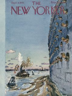 The New Yorker - Saturday, September 8, 1945 - Issue # 1073 - Vol. 21 - N° 30 - Cover by : Alan Dunn