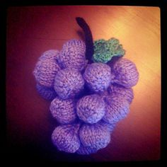 Knitted Grapes