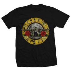 Bravado Guns N Roses Distressed TShirt Mens Printed T Shirts, Mens Tee Shirts, Band Shirts, Branded T Shirts, Ripped Shirts, Guns N Roses Shirt, Rose T Shirt, Sweet Child O'mine, Roses Tumblr
