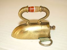 Vintage Antique Novelty Brass Tape Measure.