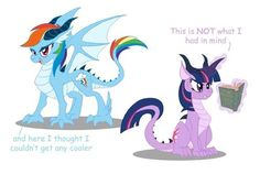 Rainbow and twilight dragon