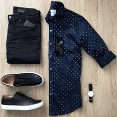Want cool outfits like this delivered to your door? Try Stitch Fix! Want cool outfits like this delivered to your door? Try Stitch Fix! Mens Casual Dress Outfits, Stylish Mens Outfits, Men Dress, Casual Attire, Mens Style Guide, Men Style Tips, Mens Fashion Wear, Fashion Shirts, Men's Fashion