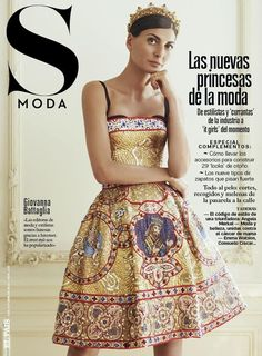 Giovanna Battaglia - S Moda for El Pais October 5, 2013 Cover