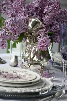 Lavender and antique silver