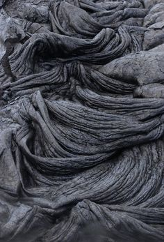 Volcano Lava - natural textures & sculptural surface pattern inspiration for design; art in nature