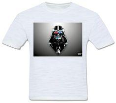 camiseta fractal star wars guerra nas estrelas darth vader diamante