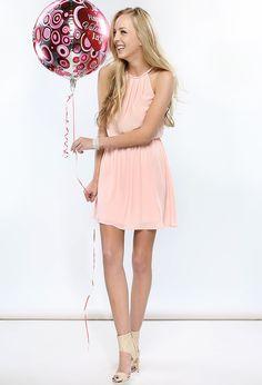 string halter chiffon dress