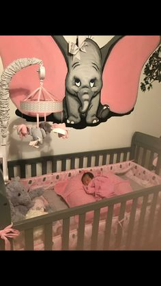 So, love the Dumbo. But, that baby is seriously not safe! Never put anything in her crib!