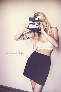 self portrait, polaroid