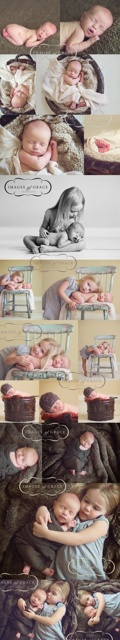 sibling newborn session...I love how simple they are