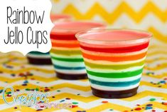 Rainbow Jell-O Cups - Reality Daydream