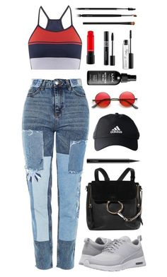 """Untitled #79"" by korareay2 ❤ liked on Polyvore featuring Topshop, LNDR, Chloé, NIKE, MAC Cosmetics, adidas, Christian Dior, NARS Cosmetics and Chanel"