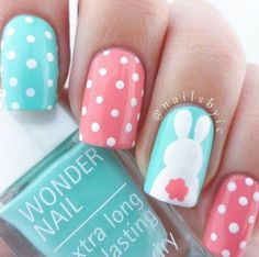 Bunny Nail Art | Easy Easter Nail Designs for Short Nails