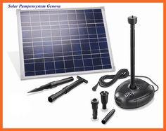 Solar Pumpensystem Teichpumpensystem Genova 35 W Solarmodul bis 1700 l/h 101723