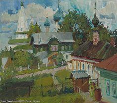 Suzdal Yard - oil, canvas Russian Master: Kamaeva Tamara