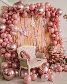 """For The ❤️of Parties on Instagram: """"Rose gold all day, every day! ❤️ BY: @aireendecor_kids #rosegold #rosegoldparty #balloonarch #birthdayparty #party #balloon #caketable…"""" Quinceanera Decorations, Quinceanera Party, Gold Birthday Party, Sweet 16 Birthday, Birthday Ideas, Birthday Party Background, 25th Birthday Parties, Free Birthday, Birthday Nails"""