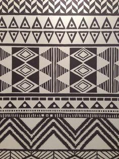graphic, tribal-inspired wallpaper from Netherlands-based brand, Eijffinger.