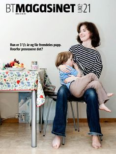 Norwegian magazine cover featuring a #breastfeeding toddler. Now THAT'S how you depict an extended nursing relationship!
