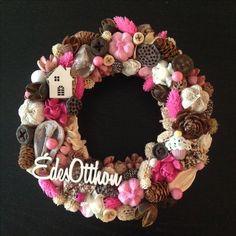 Tavaszi kopogtató/ajtódísz - Door wreath/ hanger