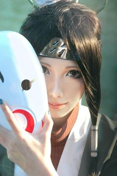 A cute cosplay of Haku. Very amazing