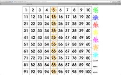 Splat! Interactive 100s Chart for smartboard