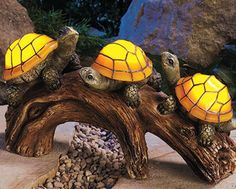 .                                                       Solar Mosaic Turtles Garden Decor