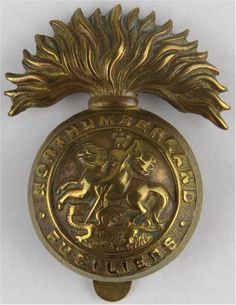 Northumberland Fusiliers Other Ranks' metal cap badge for sale