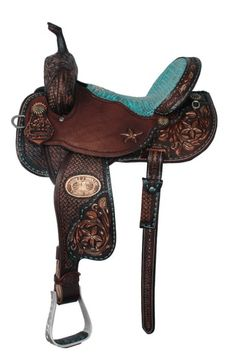 Awesome saddle with green seat [ RopesForLess.com ] #riding #horse #quality