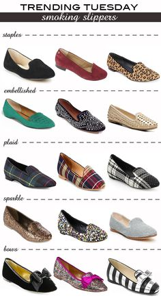 These aren't an outfit, but I just love smoking slippers and the sight of all these different colors makes me squee.