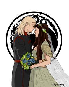 Rhaegar and Lyanna by chillyravenart on DeviantArt Rhaegar Y Lyanna, Arte Game Of Thrones, Game Of Thones, I Love Games, Dragon, Couple Art, Art Tutorials, Film, Game Art