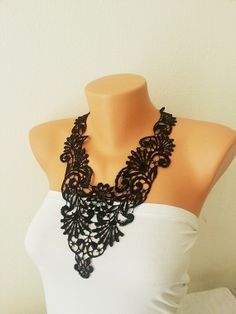 FREE SHIPPING Black  collar necklace Luxury by ArtofAccessory, $35.00