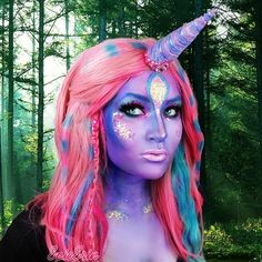 Unicorn makeup...HORN DIY START WITH A WATER FOUNTAIN DRINKING CONE AND ADD PAPER MACHE TO LENGTHEN