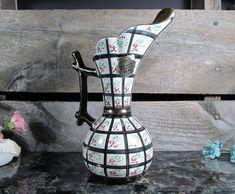 Vintage Designer Hand Painted Pitcher Vase, Hubert Bequet, Faïencerie Bequet Quaregnon Belgium, 1940s Home, Office, Farmhouse & Urban Decor by TheStorageChest on Etsy
