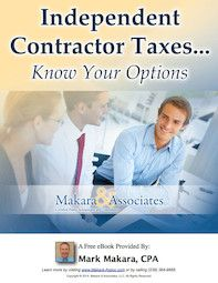 "Naples CPA debuts new eBook ""Independent Contractor Taxes...Know Your Options"""