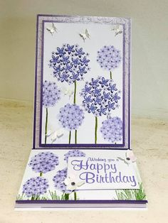 Designed & created by Chloe Endean using her Stamps By Chloe range Flower Stamp, Flower Cards, Chloes Creative Cards, Stamps By Chloe, Crafters Companion Gemini, Handmade Birthday Cards, Handmade Cards, Clear Stamps, It's Your Birthday