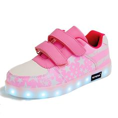 Eur25-37 // Usb Glowing Sneakers Basket Led Children Lighting Shoes illuminated krasovki Luminous Sneakers for  Boys and Girls #Affiliate