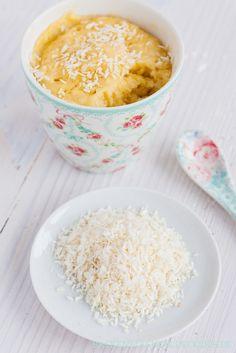 Tassenkuchen-Rezept Kokos Zitrone Choclate Brownies, Oatmeal, Deserts, Pudding, Candy, Baking, Breakfast, Creative, Brot