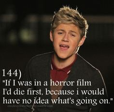 Niall, hahah awe! I wouldn't let you die! Irish Buddies forever! <3 but I'd die with u if it were fate