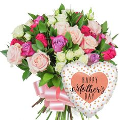 MOTHER'S DAY GLAMOUR #MothersDay #bouquet #roses #pink #giftsforher #mothersdaygifts #giftideas #love #mum