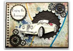 Male card, map paper, stampin up gorgeous grunge stamps, spellbinders circles and cheerylynn cog dies.