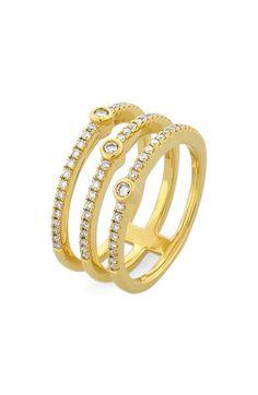 Bony Levy Three Row Pavé Diamond Band Ring available at #Nordstrom