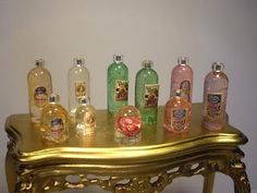 "those beautiful small bottles - using gel capsules. (also see the ""snowglobes"")"