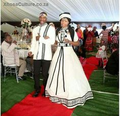 IsiXhosa African Traditional Wedding, African Traditional Dresses, Traditional Wedding Dresses, African Wedding Attire, African Attire, Xhosa Attire, African Wear Dresses, Afro, Couple Outfits
