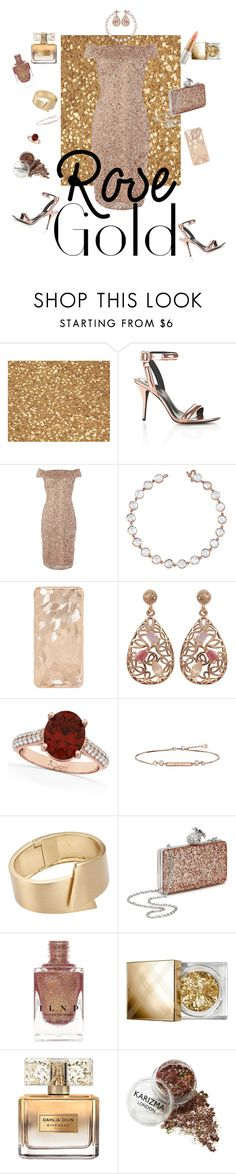 """""""Rose Gold Year 🎉"""" by silmisaz ❤ liked on Polyvore featuring Alexander Wang, Adrianna Papell, Irene Neuwirth, Luxiro, Allurez, John Lewis, Miss Selfridge, Burberry, Givenchy and Mariah Carey"""